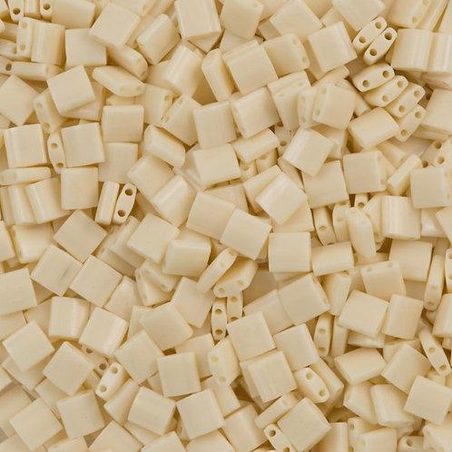 Miyuki Tila Beads 5mm - Ivory Pearl Ceylon Luster 10g