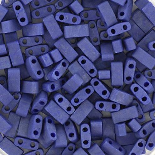 Miyuki Half Tila Beads - Matte Opaque Cobalt Luster 7.8g