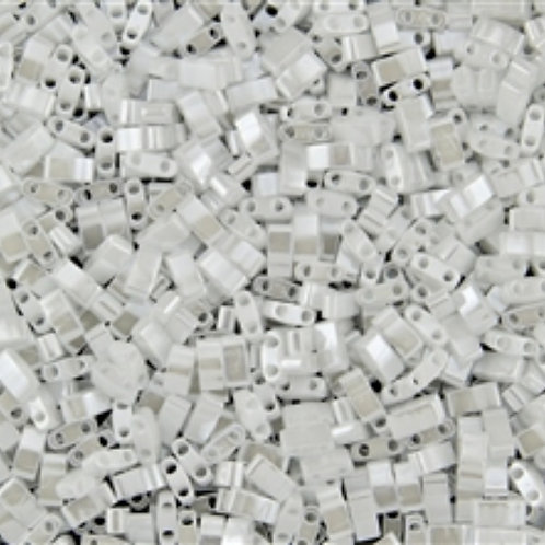 Miyuki Half Tila Beads -  White Pearl 7.8g