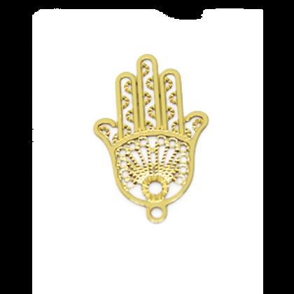 Forever Gold Hamsa Hand 23x15mm Charm - 5pcs