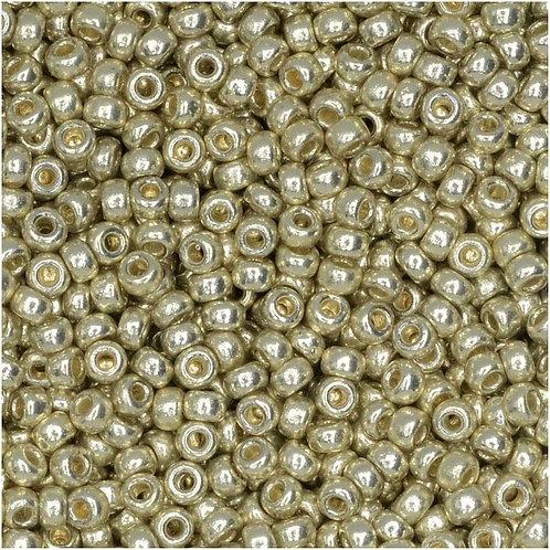Miyuki Round Rocaille 11/0 - Duracoat Galvanized Silver