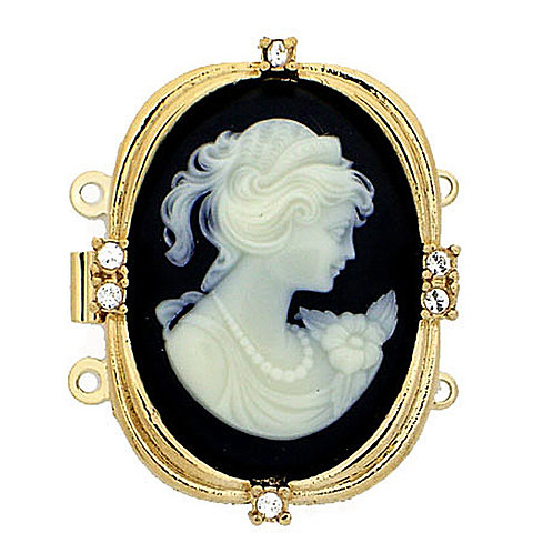 Claspgarten Cameo Clasp 30 x 23 mm 23 carat real gold plated