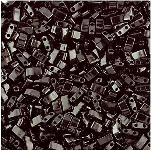Miyuki Half Tila Beads - Black 7.8g