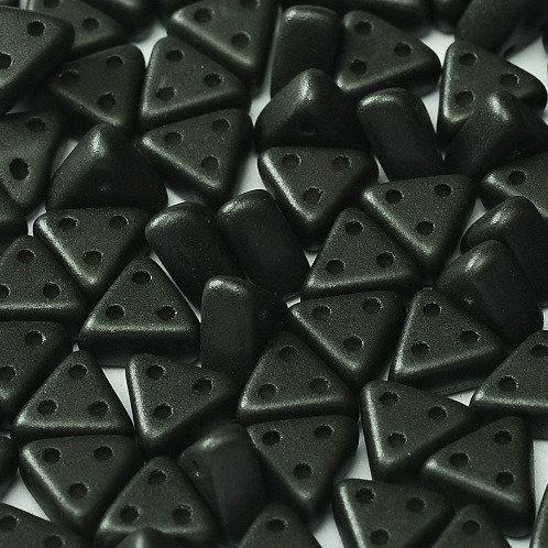 Czech Emma Beads 3x6mm 3 Hole - Metallic Black 10g