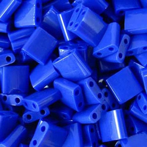 Miyuki Tila Beads 5mm - Opaque Cobalt