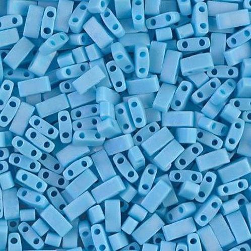 Miyuki Half Tila Beads - Opaque Turquoise Blue 7.8g