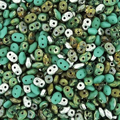 Matubo Superduo Beads -  African Turquoise Mix
