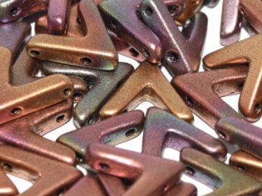 AVA Beads - Czech glass 3-hole angled/shaped size 10x4mm