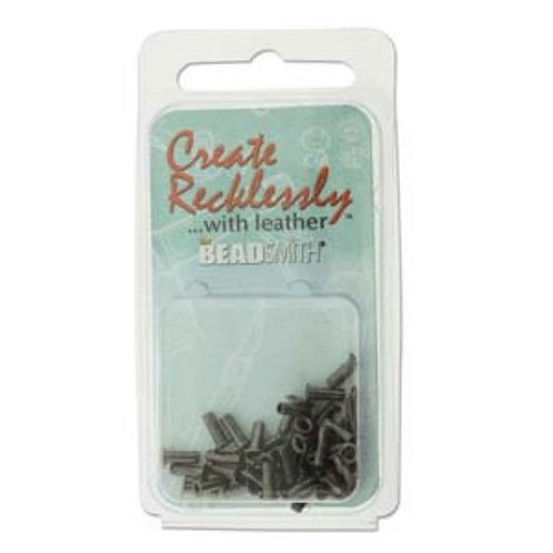 Beadsmith Create Recklessly Eyelets - Antique Silver Plated 3/32 x 1/5 in