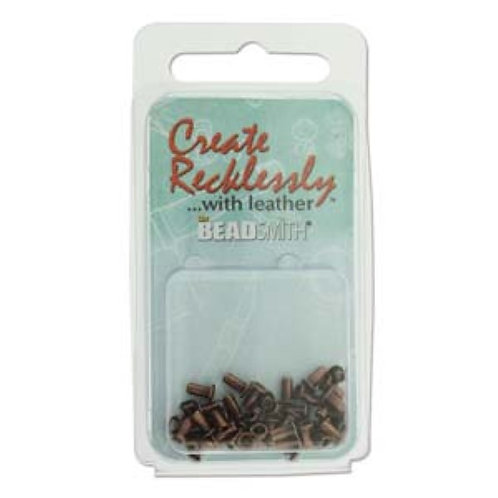 Beadsmith Create Recklessly Eyelets - Antique Copper Plated 3/32 x 1/4 in