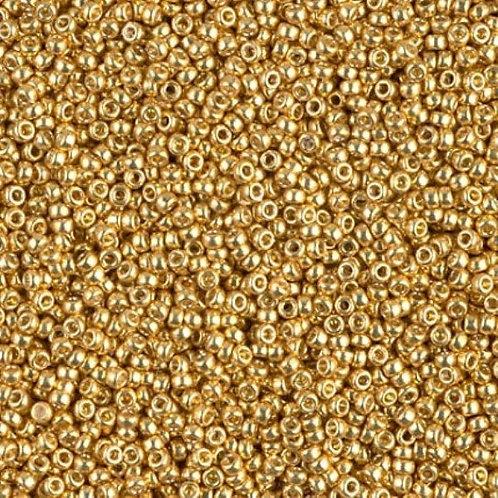 Miyuki Round Rocaille 15/0 - Galvanized Gold 8.2g