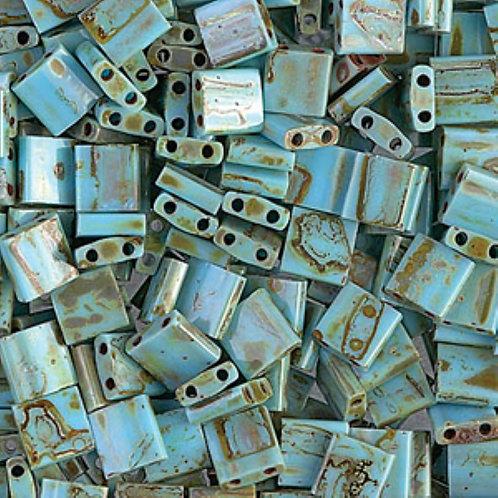 Miyuki Tila 5mm Picasso Seafoam Green Matte TL4514