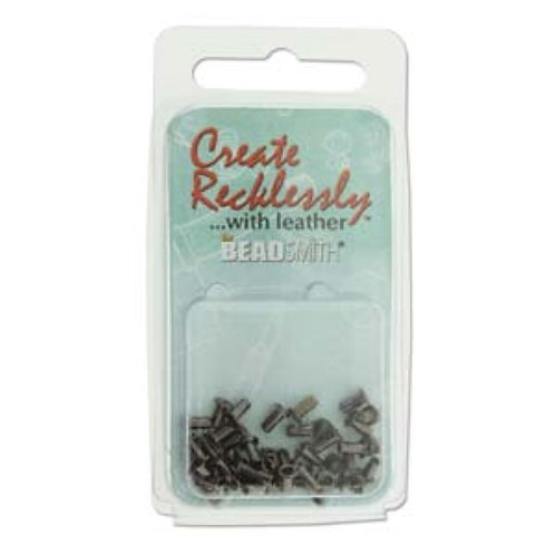 Beadsmith Create Recklessly Eyelets - Gunmetal Plated 3/32 x 1/5 in