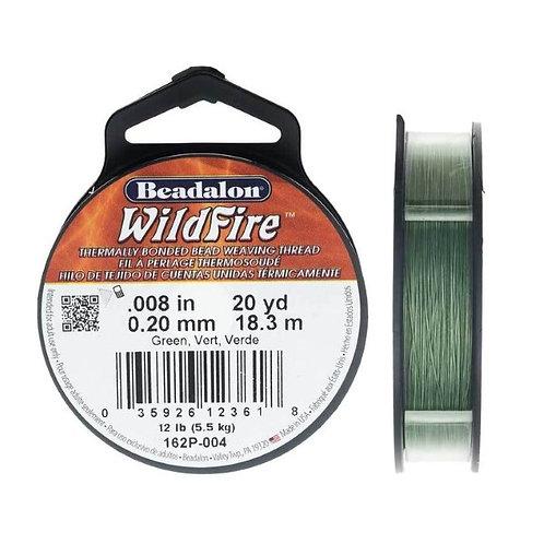 Beadalon Wildfire Beading Thread 50 yards .008 in - Green