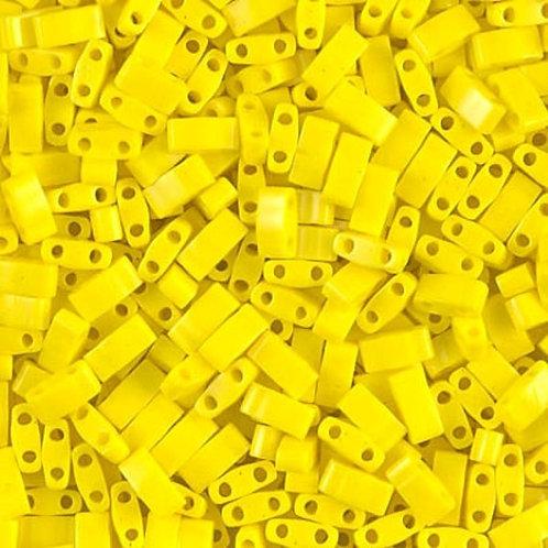 Miyuki Half Tila Beads - Opaque Yellow 7.8g