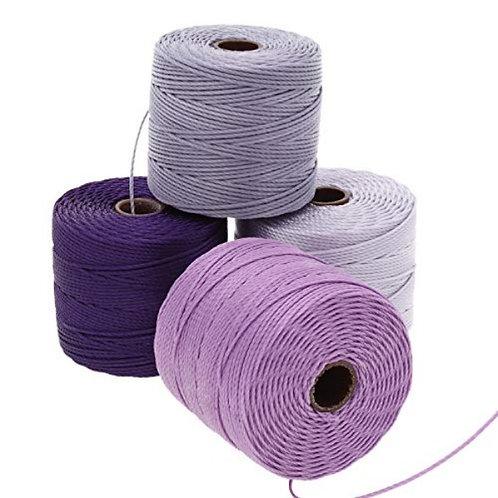 Beadsmith S-Lon Bead Cord 4 Pack - Lilac