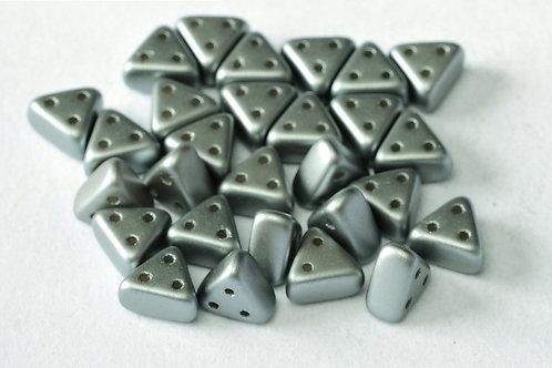 Czech Emma Beads 3x6mm 3 Hole - Pastel Lt. Grey 10g