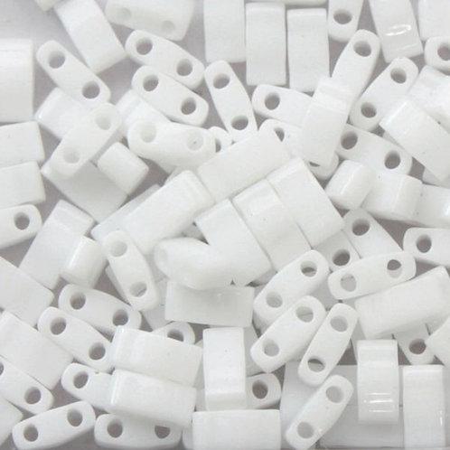 Miyuki Half Tila Beads -  Opaque White 7.8g