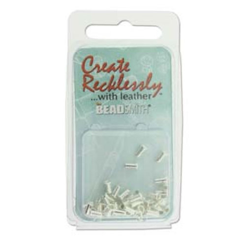 Beadsmith Create Recklessly Eyelets - Silver Plated 3/32 x 1/4 in