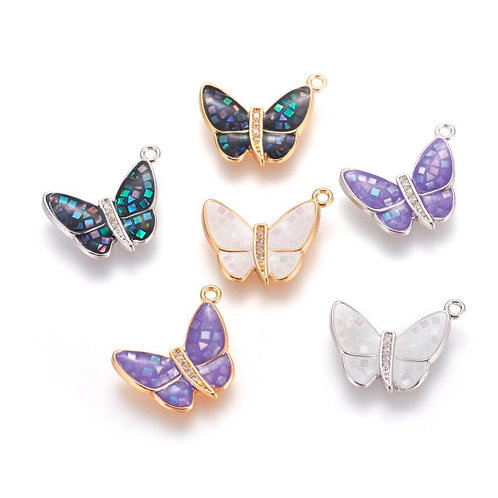Micro-Pavé Butterfly with FreshWater Shell