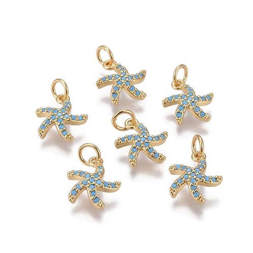 Micro Pavé Starfish Charms