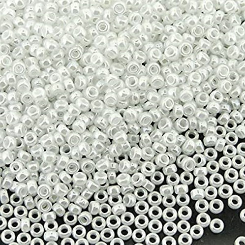 Miyuki Round Rocaille 15/0 - White Pearl 8.2g