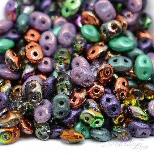 Matubo Superduo Beads - Mardi Gras Plush Mix