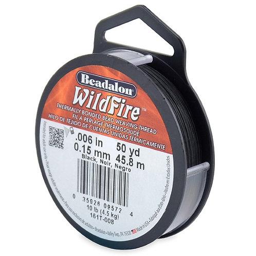 Beadalon Wildfire Beading Thread 50 yards .006 in - Black
