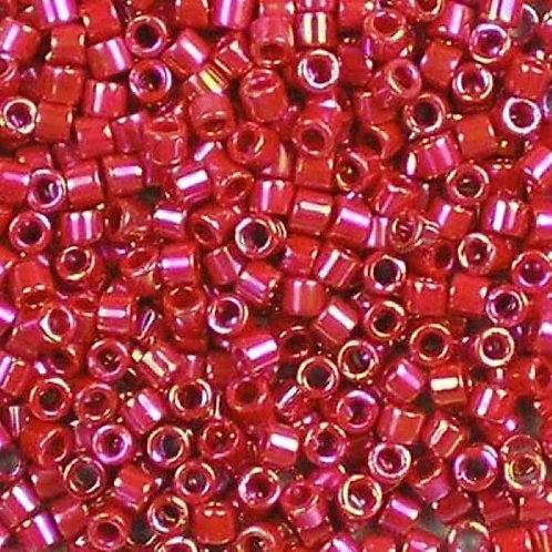 Miyuki Delica 10/0 - Opaque Red AB 7.2g