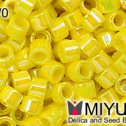Miyuki Delica 10/0 - Opaque Yellow DBM0721 8g