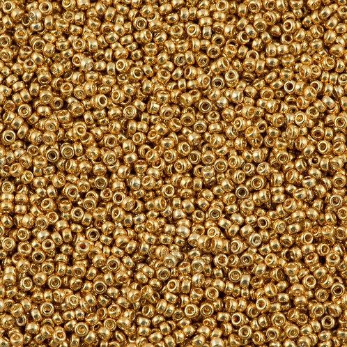 Miyuki Round Rocaille 15/0 - Galvanized Yellow Gold 8.2g