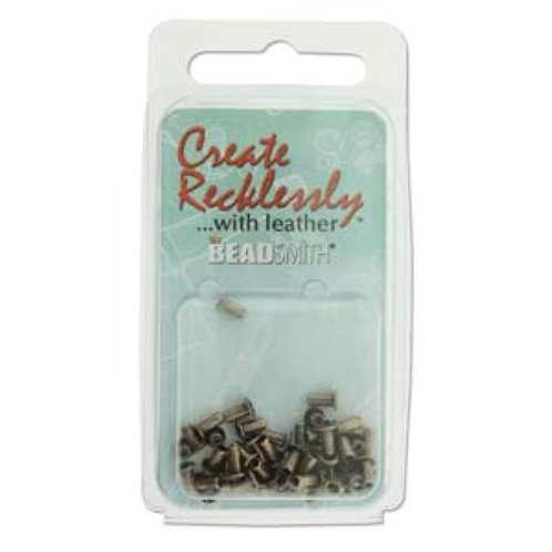 Beadsmith Create Recklessly Eyelets - Antique Brass Plated 3/32 x 1/5 in
