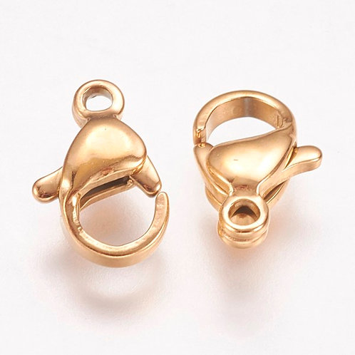 304 Stainless Steel Lobster Claw Clasps 10mm