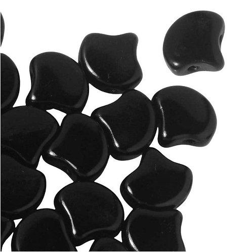 Matubo Ginko Beads - Jet Black