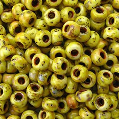 Miyuki 8/0 Round Rocaille Seed Beads - Picasso Canary Yellow 22g