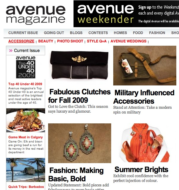 Avenue Magazine Nov 2009
