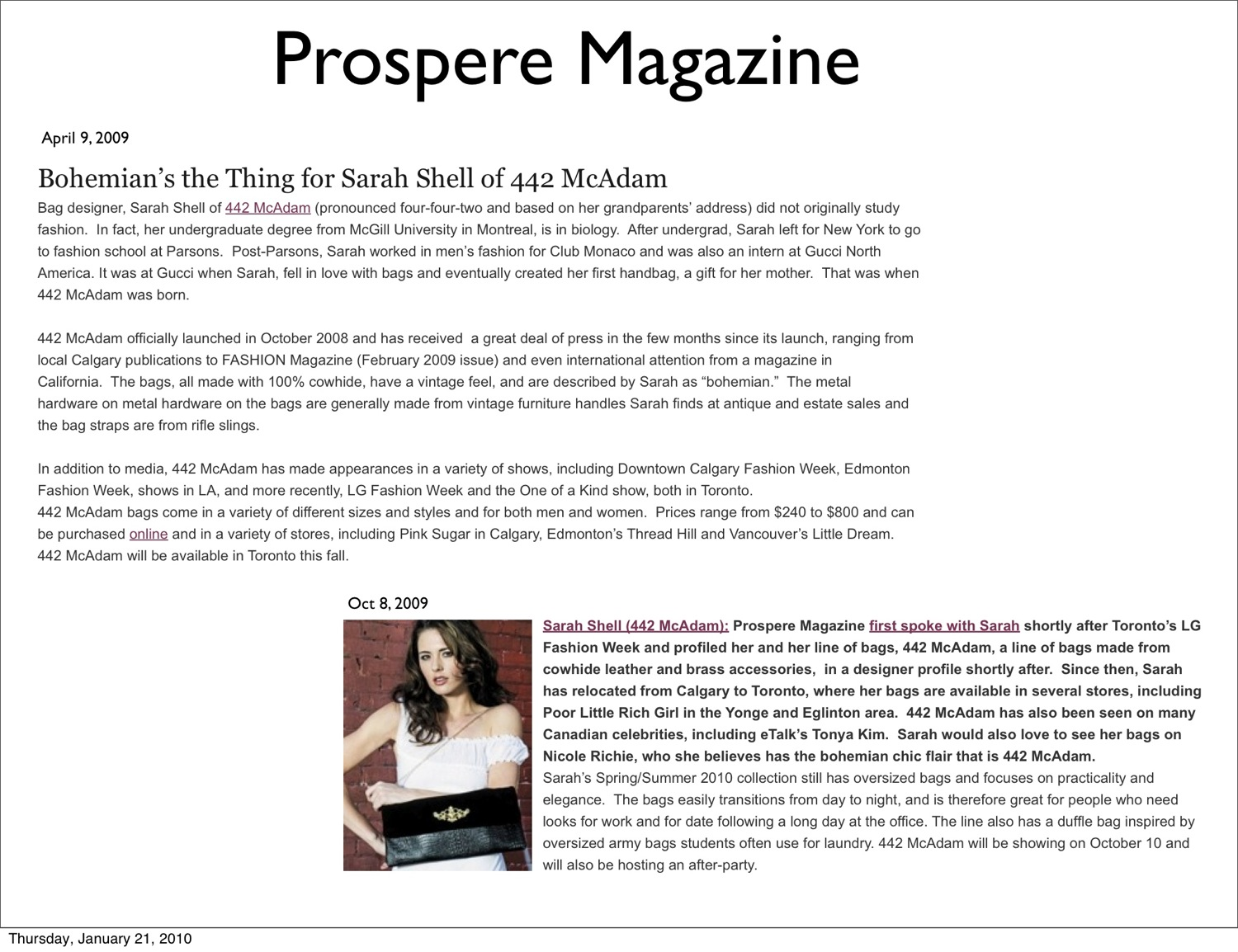 Prospere Magazine Articles