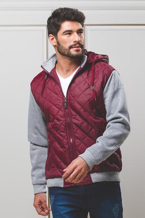 Jaqueta de Nylon e Moletom c/ Capuz
