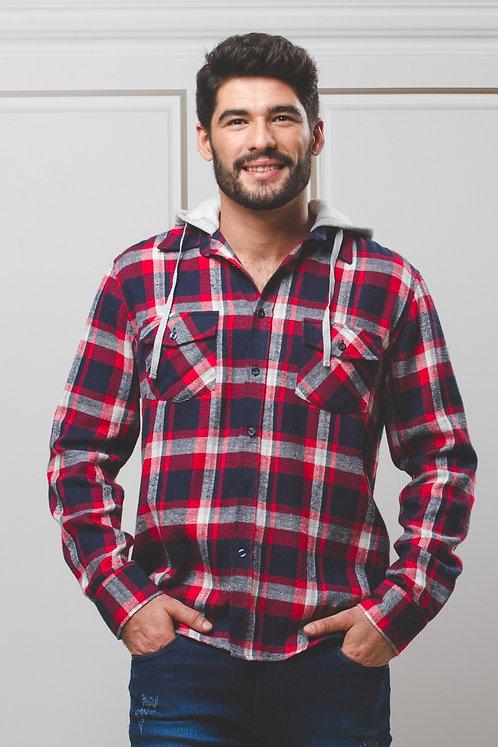 Camisa Flanelada c/ Capuz