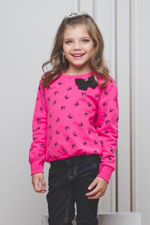 Blusa de Moletom c/ Laço Barbie