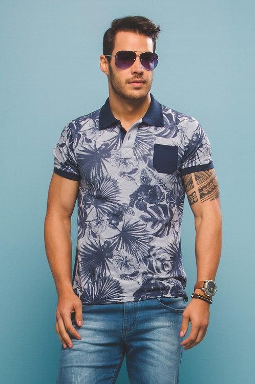 Camisa Polo Folhagem c/ Bolso