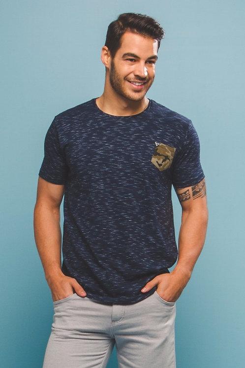 Camiseta c/ Bolso Camuflado