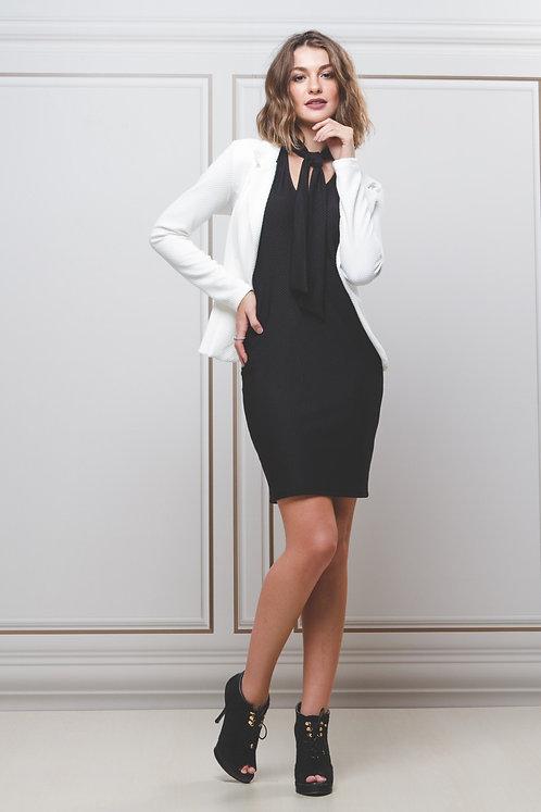 Vestido c/ Gola Laço