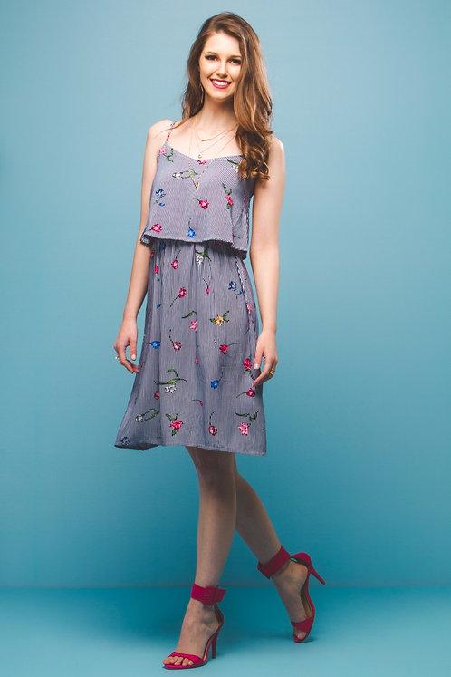 Vestido de Alça Floral
