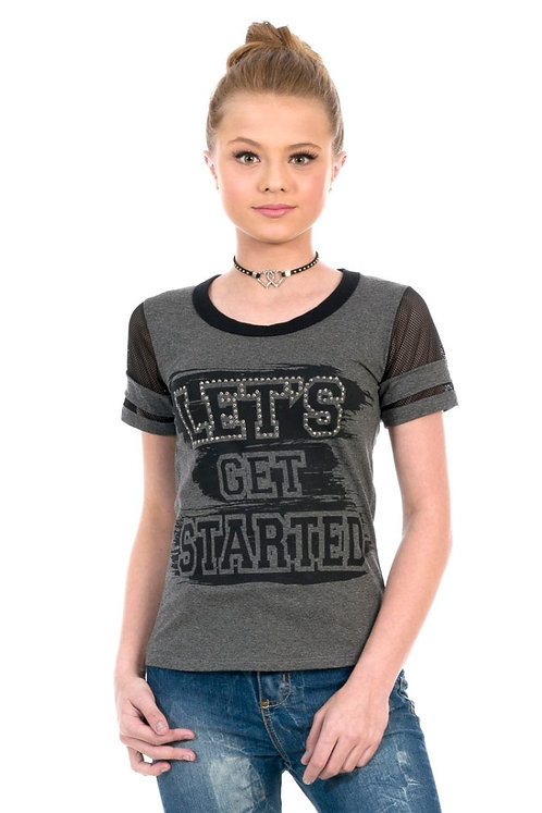Blusa Manga Curta ''Let's Get Started''