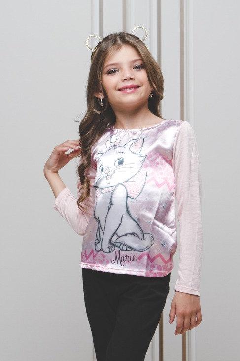 Camiseta Manga Longa c/ Estampa Marie