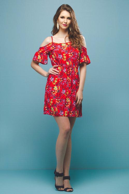 Vestido Floral c/ Ombros Vazados