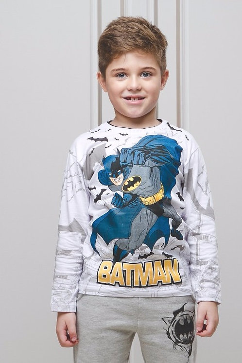 Camiseta Manga Longa Estampa Batman