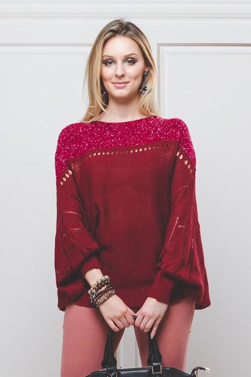 Blusa em Lã Tweed