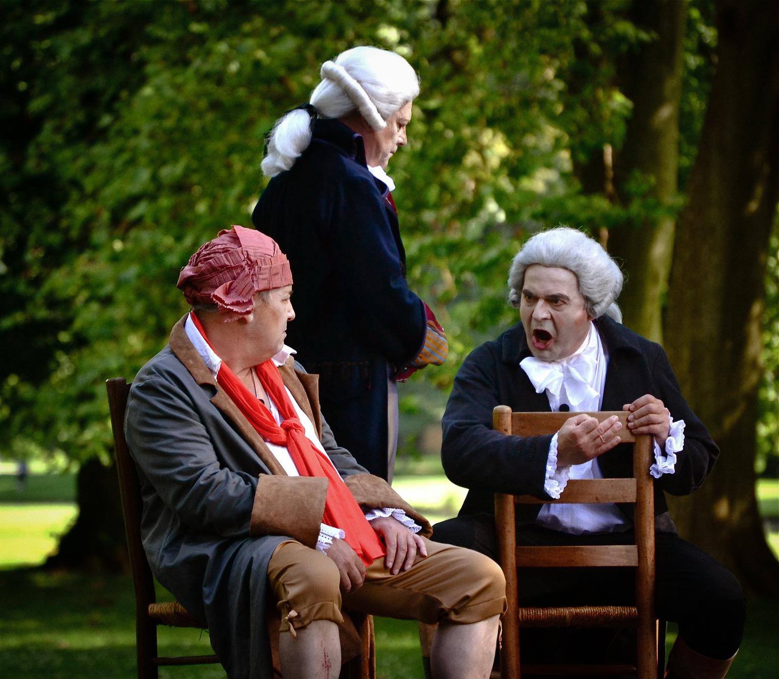 Robespierre, Danton et Marat